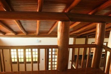 Casa de madeira.