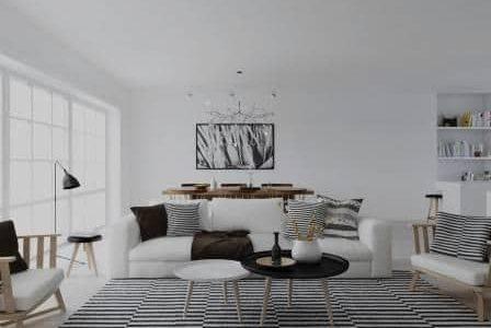 Decoração de sala de estar.