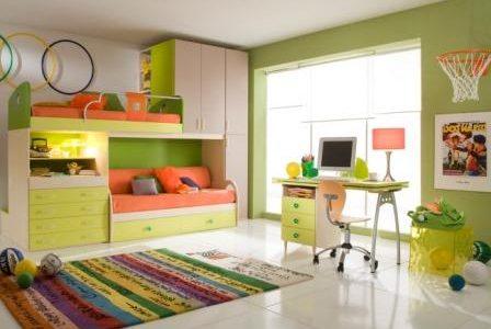Decoração de quarto de criança.