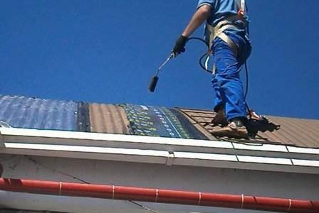 Infiltrações em telhados – Tela asfáltica.