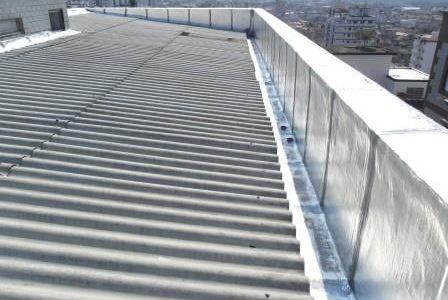 Infiltrações em telhados – Impermeabilização de caleira.