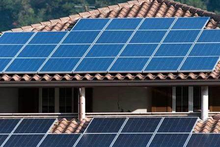 Painéis solares.