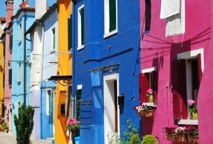 Pintura de fachada de casas.