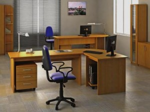 Remodelação de escritório simples.