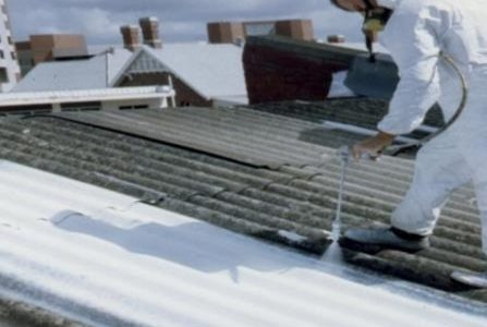 Substituição de amianto – Isolamento de amianto através da aplicação de pintura específica para o efeito.