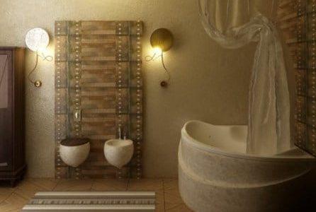 Remodelação de casa de banho com design moderno.