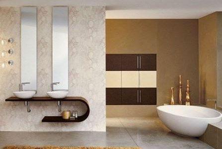 Remodelação de casa de banho com loiças modernas.