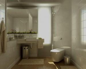 Decoração de casas de banho em tons claros