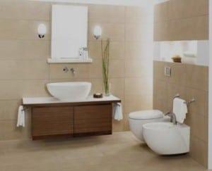 Móveis de casa de banho sanita e bidé