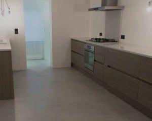 Microcimento pavimento de cozinha