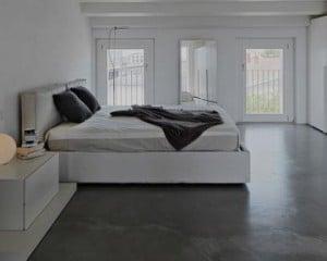 Microcimento pavimento de quarto