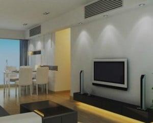 Ar condicionado em sala de estar