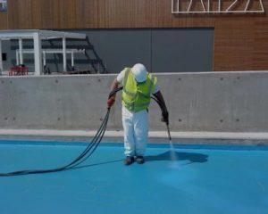 Trabalhos de impermeabilização de terraços