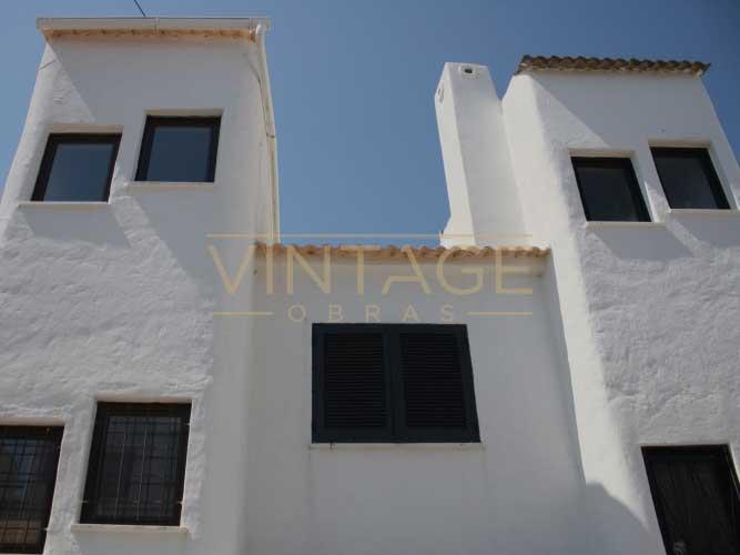 Pintura de fachada de casas vintage obras - Pintura para fachada ...