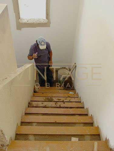 Remodelação integral: escadas.