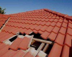 Recuperação de cobertura telhas